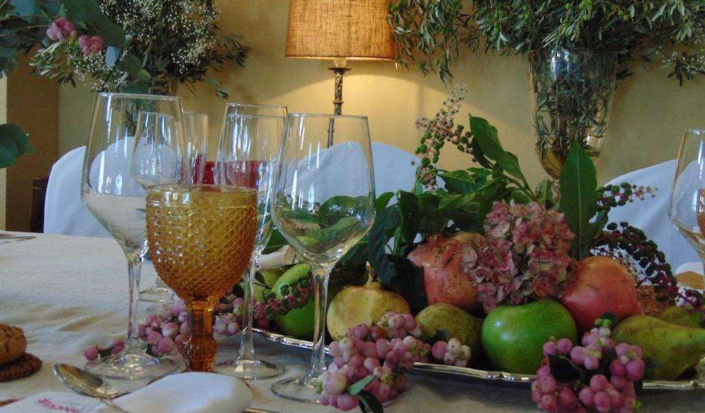 Centro mesa, bodas el Buixo